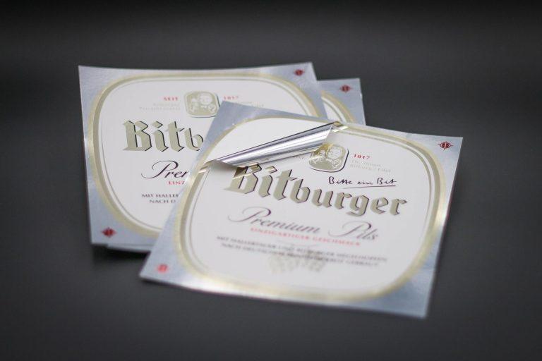 Bitburger - Metallaufkleber