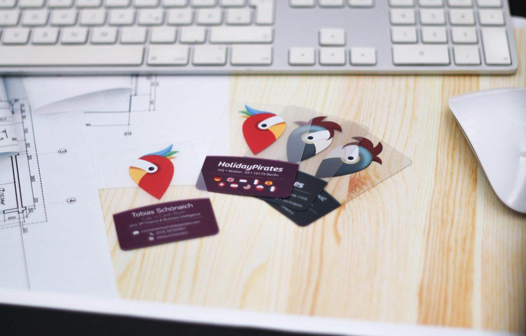 Transparente Visitenkarten