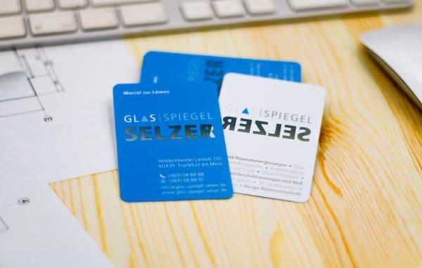 Transparente Visitenkarten - beidseitig bedruckt