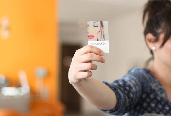 Transparente Visitenkarten - einseitig bedruckt