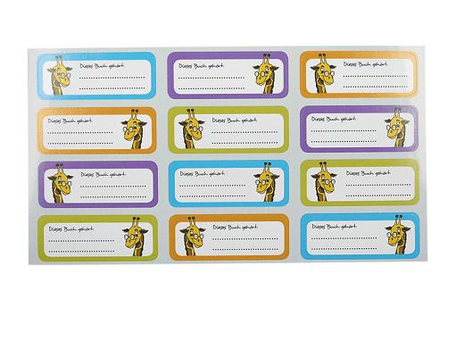Papieraufkleber zum Beschriften