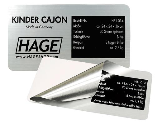 Metallaufkleber Siebdruck