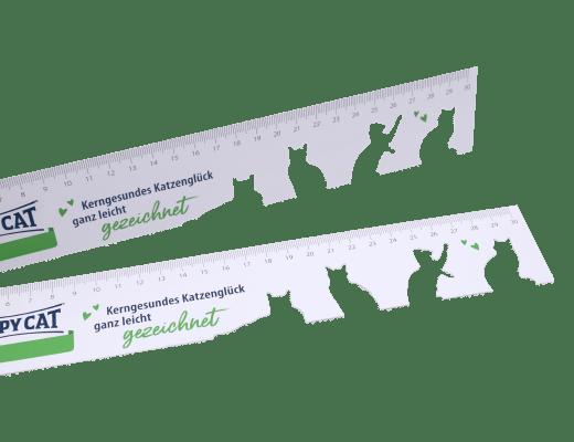 Werbelineale aus Kunststoff mit Schablone